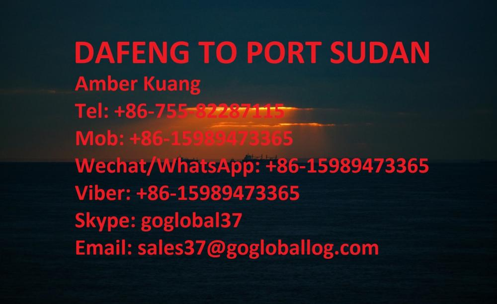 Jiangsu Dafeng Sea Freight to Sudan Port Sudan