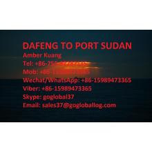 Leading for Ocean Freight To Africa Jiangsu Dafeng Sea Freight to Sudan Port Sudan supply to Spain Manufacturer