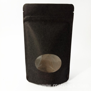 Stand Up Pouch Kraft Paper Bag With Zipper
