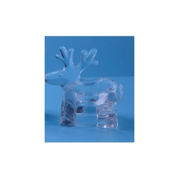 Glass Deer Tealight Holder