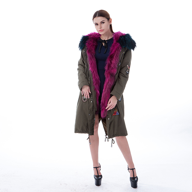 Purple fur winter coat