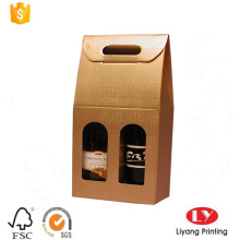 custom made cheap wine packaging paper box
