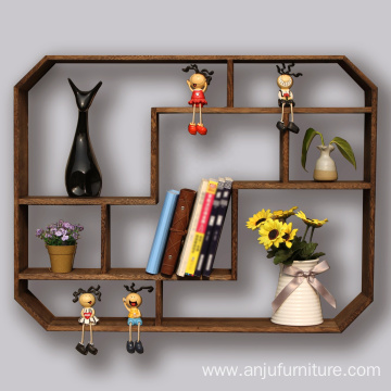 Solid wood decorative wall shelf