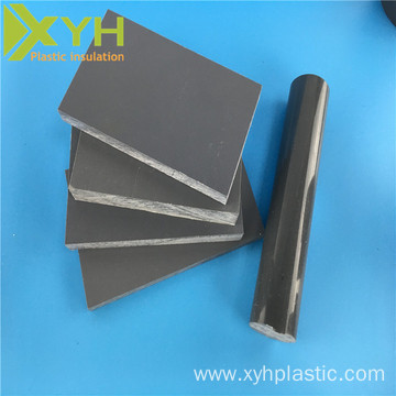 Gray Hard PVC Rod Dark Gray PVC Bar