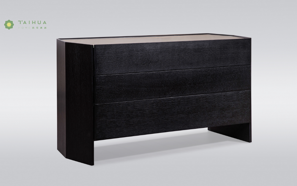 Dark Solid Wood Night Stand