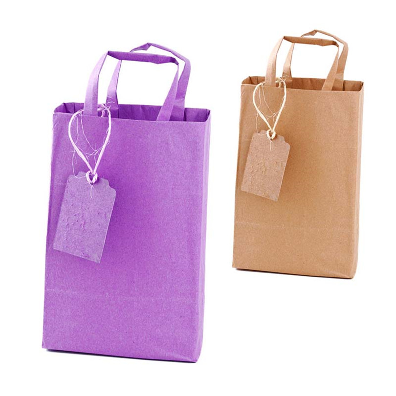 Paper bags with individual colors