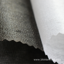 ODM for China Garment Lining,Single Dot Fusing Interlining,Single Dot Fabric Interlining Manufacturer and Supplier PES single dot good adhesion nonwoven cloth interlining supply to Guyana Factories