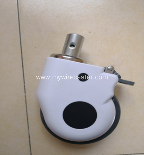 5 Inch Solid Stem Swivel TPR Material Medical Caster