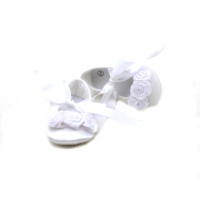 Appealing Flower Decoration Satin Baby Ballet Shoes