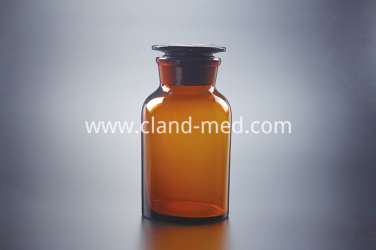 1402 Reagent Bottle Amber , Narrow Mouth,with Ground-in GlassPlastic Stopper 2