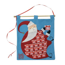 Christmas advent calendar with santa pattern