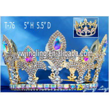 Full Round Crown Gold Pageant Crowns T-76-1