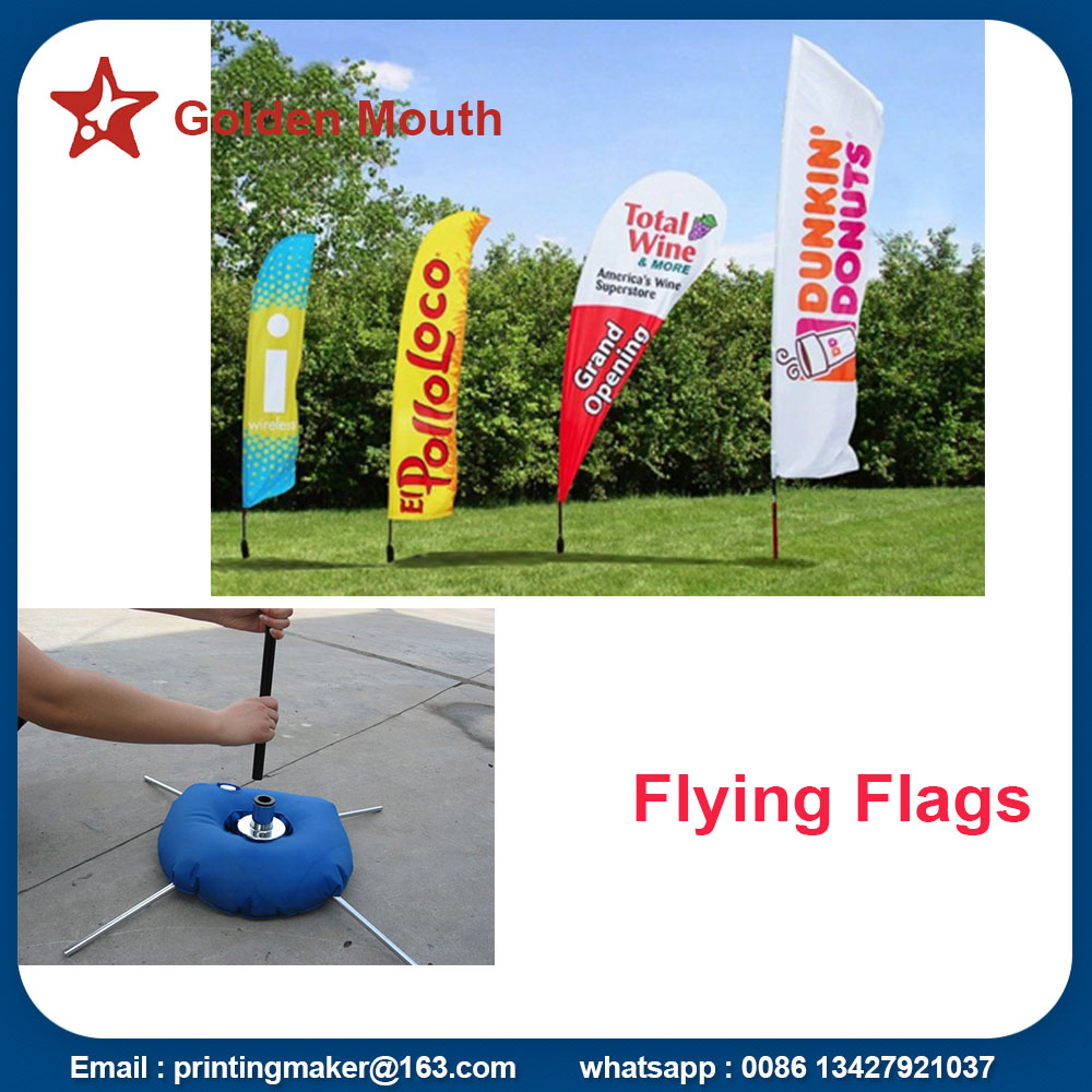 Promotion Feather Flags Custom With  Kits