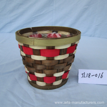 Round Multi-color Flower Pot