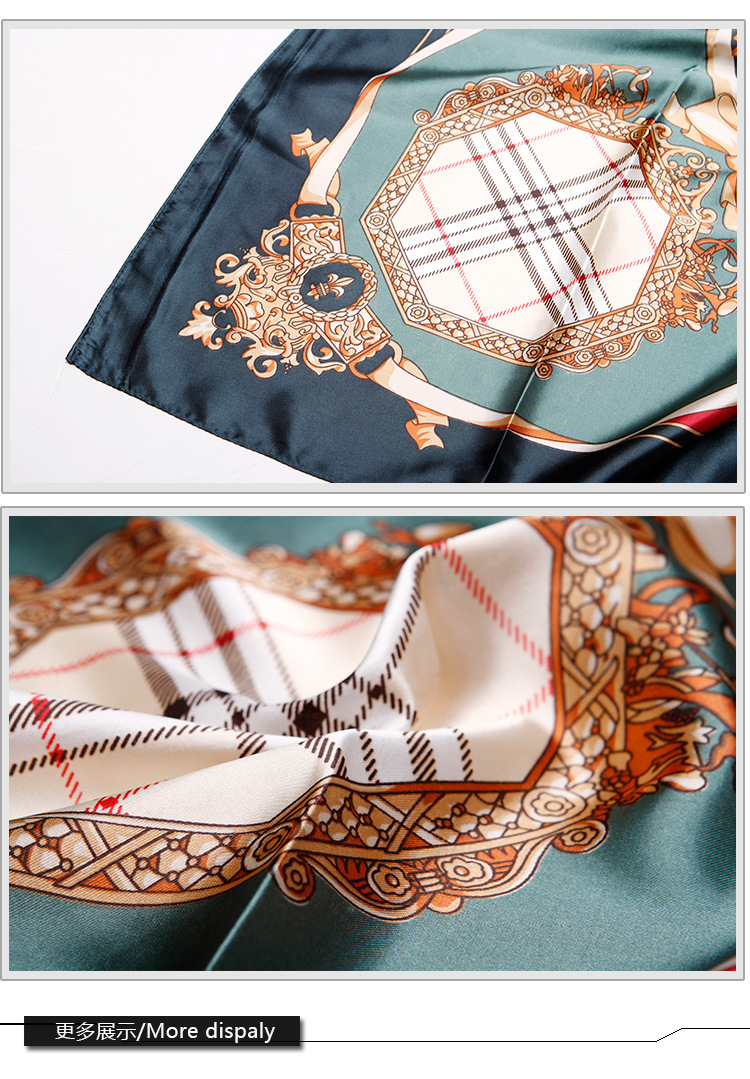 Silk scarves and scarves imitate printed silk scarves (2)