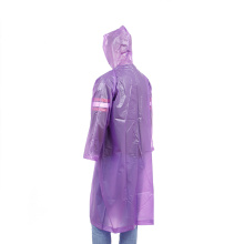 Eco friendly plastic waterproof PEVA raincoat hooded with sleeves