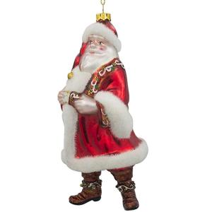 factory customized for Santa Claus Christmas Ornaments Hand Painted Customized Glass Santa Claus Christmas Ornament export to Latvia Factory