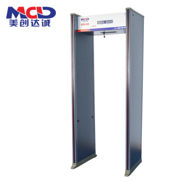 Alta sensibilidad Nuevo diseño 2019 0-255 Ajustable 16 zonas Walk Through Metal Deterctor MCD600