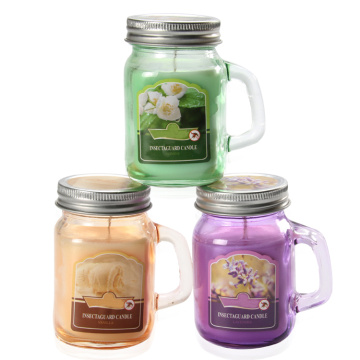 Paraffin Wax Citronella Glass Jar Candle for Outdoor
