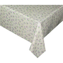 Pvc Printed fitted table covers Yellow Flowers