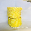 12mm Yellow Twist PE rope with low price