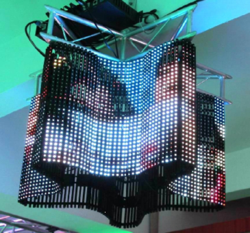 LED Flexible Mesh Curtain Video Display