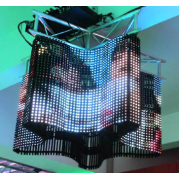 Flexible soft LED display screen