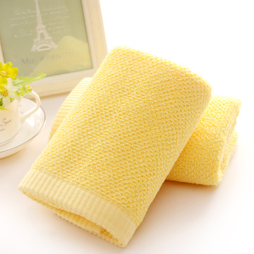 Royal Cotton Yellow Towels in Plain Colors