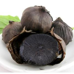 High temperature fermented black garlic