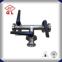 Sanitary Stainless Steel Three-Way Thread Butterfly Valve