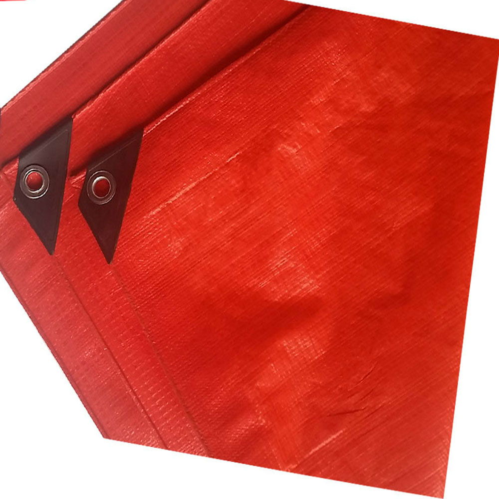 Red Tarpaulin Protection Cover against Sun, Rain