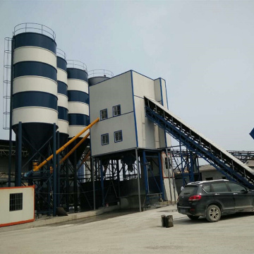 Mini 120m3h stationary concrete batching plant