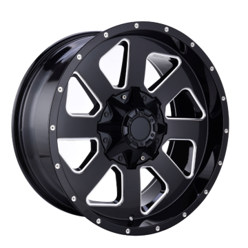 Aluminium Offroad Rims Black Milled