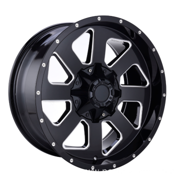 Black Spoke Milling Off Road Wheel