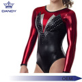 Sêwirana Gymnastics Metallic Long Sleeve