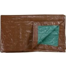 Brown Color  PE tarpaulin Cover
