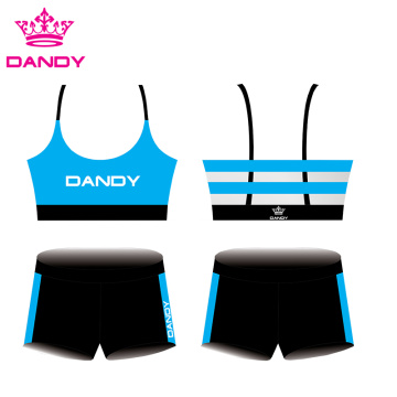 China Cheap price for Cheer Practice Wear customizable stripes sublimated cheer outfits supply to Liberia Exporter