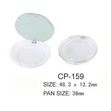 Round Compact Container With Transparent Lid