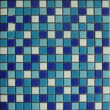 melted glass swimming pool mosaic