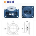 2.75 inch 4ohm 8w 87dB fullrange square speaker