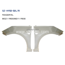 Best quality and factory for HYUNDAI Fender Replacement Steel Body Autoparts HYUNDAI 2011 ACCENT FENDER export to Georgia Exporter