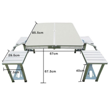 Outdoor folding table