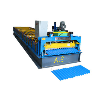 corrugated and trapezoid roof panel roll forming machine