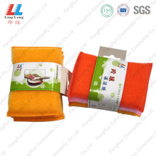 China for Golden Silver Cleaning Sponge,Kitchen Cleaning Sponge,Kitchen Sponge Cleaner Manufacturer in China Strong Decontaminating Washing Souring Pad export to Poland Manufacturer