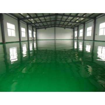 Factory high strength epoxy flat topcoat coating