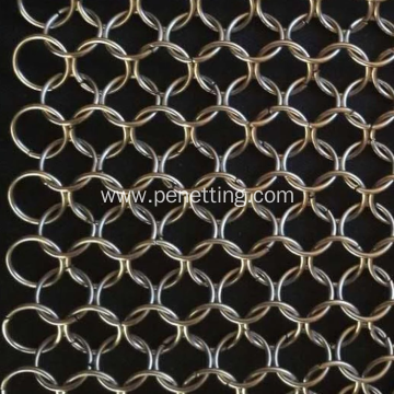 Stainless Steel Welded Ring Decorative Mesh Metal Ring
