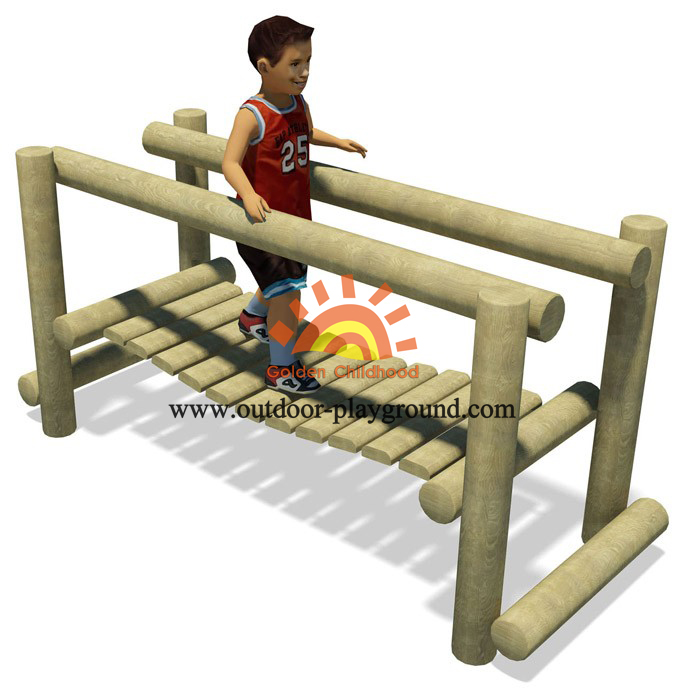 wooden holder balance bridge playground for kids