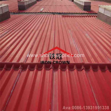 No-Asbestos Anti-impact Fireproof PET MgO Roofing Tiles