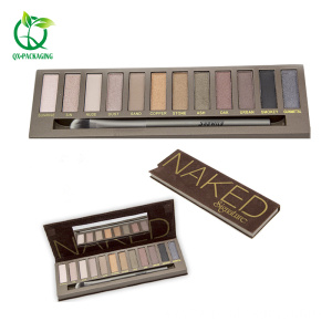 12 colors Bake Dry Wet powder eyeshadow palette