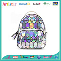 Geometric white laser backpack